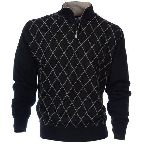 diamond pattern golf jumper stylish golf sweater with small diamond pattern design