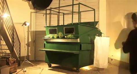 garbage bin a song by tiny little houses on spotify man turns garbage container into micro home