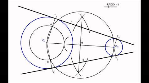 tangentes interiores a dos circunferencias rectas tangentes exteriores a dos circunferencias
