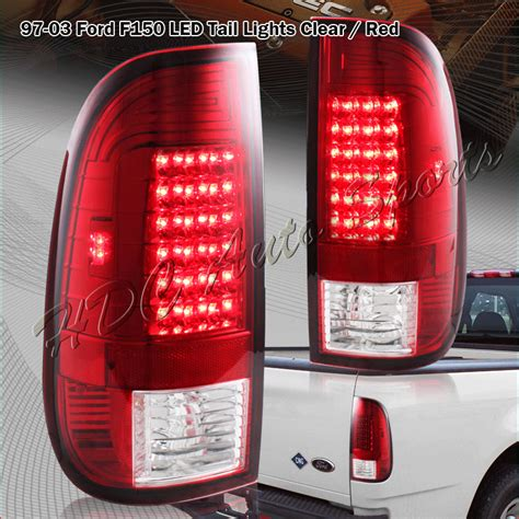 1999 ford f150 tail lights for 1999 2007 ford f250 super duty styleside red clear