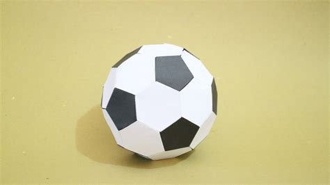 Origami Paper Football - how to origami soccer size 2 black white