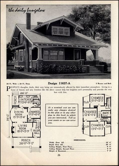 1925 bungalow house plans chicago bungalow house plans 1000 ideas about vintage house plans on pinterest
