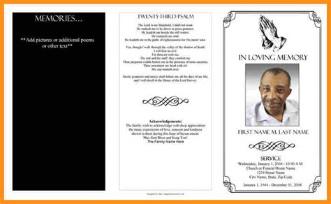 4 blank funeral program template parts of resume