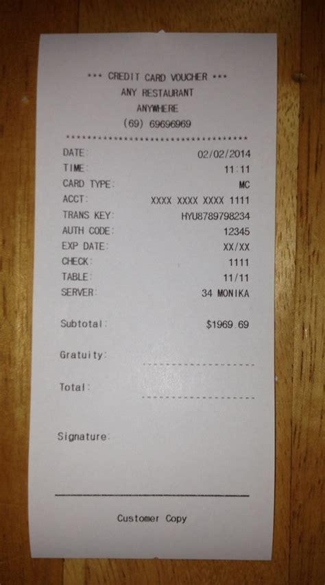 printable pretend receipts free receipt templates fake receipt templates print