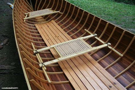 Handmade Boat - adirondack guide boat handmade from wooden boat plans