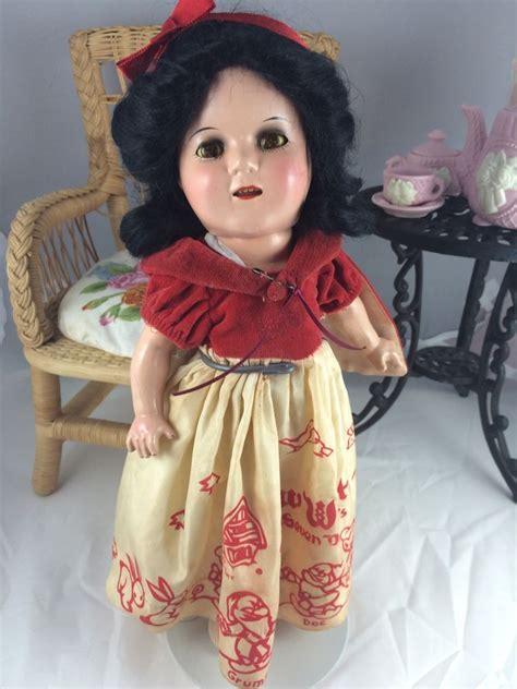 composition snow white doll antique 13 quot composition ideal snow white doll c snow