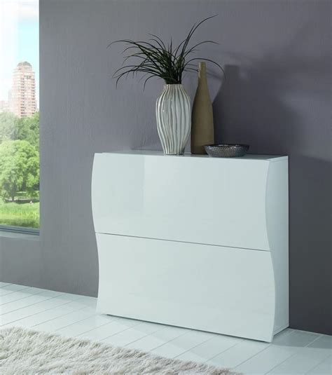 white gloss shoe storage modern onda white gloss shoe cabinet hallway furniture