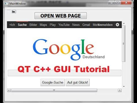 tutorial qt gui qt c gui tutorial 29 how to use qwebview and open web