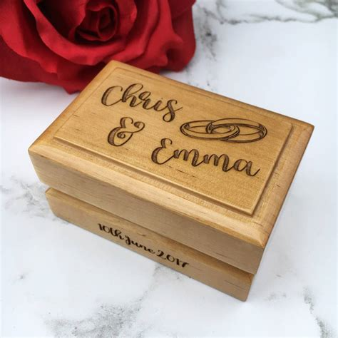 Wedding Ring Box Design by Personalised Wedding Ring Box By Laser Made Designs
