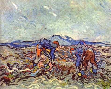 painting work vincent van gogh farmers at work art painting 50 off