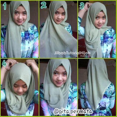 tutorial hijab segi empat sederhana jilbab tutorial hijab