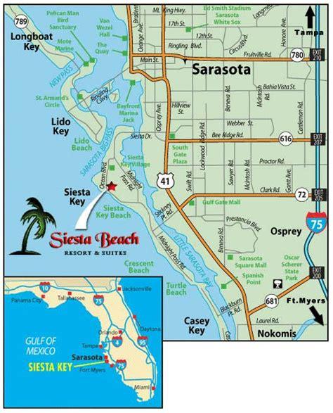 florida map siesta key siesta map