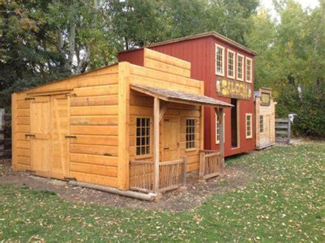 garden shed playhouse western cabin patio