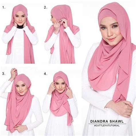 tutorial hijab simple namun elegant to get a classy and elegant look trt this long shawl