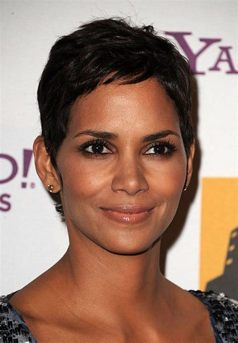 how to cut hair to look like halle berry 17 best images about hair after chemo on pinterest for