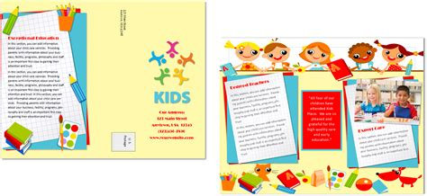 preschool brochure template child care brochure template 20 child care owner