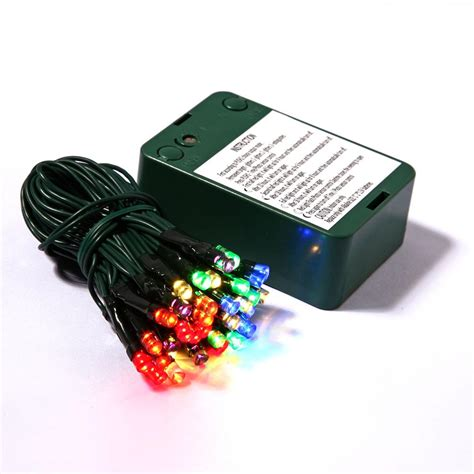 35 led lights on battery operated sensor timer with 5 inch