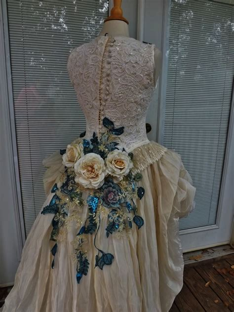 Wedding Dress Handmade - reserved for mandie handmade wedding dress mini plus by