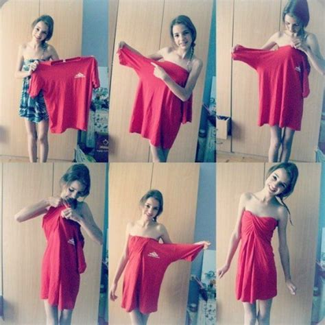 how to make a shirt how to make a beautiful dress from a large s shirt step by step diy tutorial