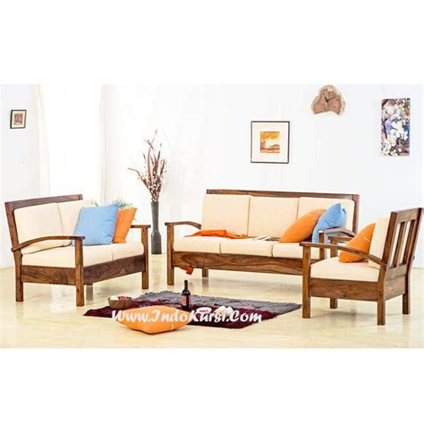 Mebel Kursi Ruang Tamu Kayu kursi sofa minimalis kayu jati savae org