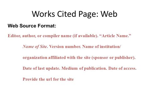 work cited mla format website example college paper writing service
