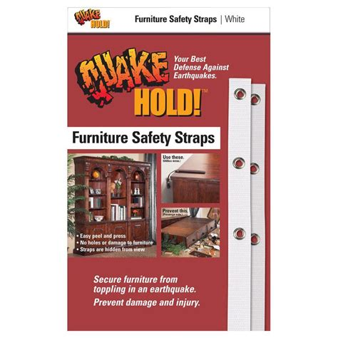 quakehold white furniture safety 4164 the home depot