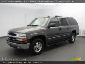 medium charcoal gray metallic 2002 chevrolet suburban