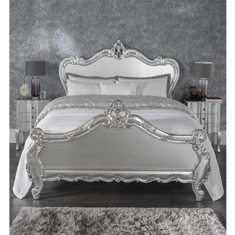 silver beds antique french style bed