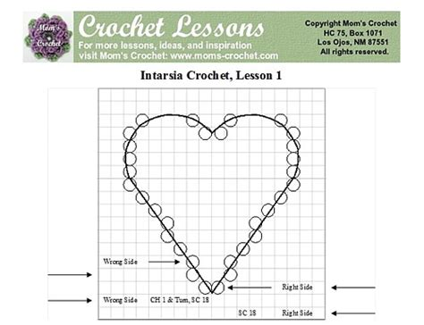 heart intarsia pattern intarsia crochet basic