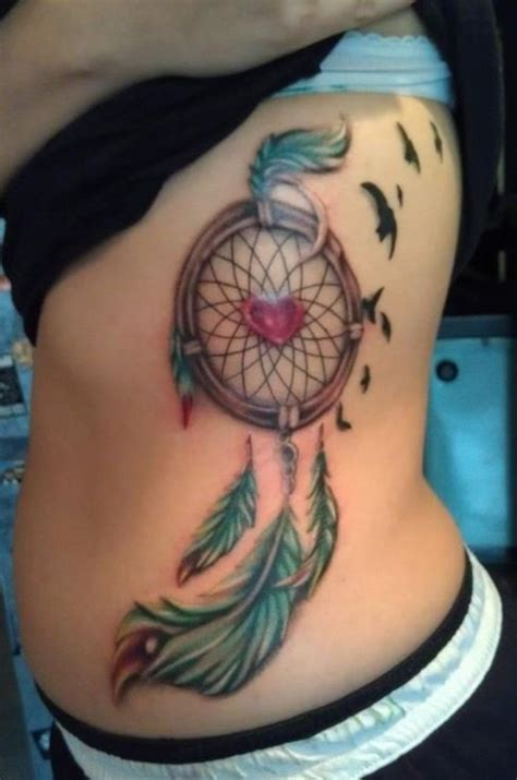 dreamcatcher tattoos on side 55 dreamcatcher tattoos tattoofanblog