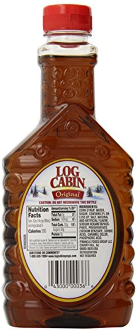 log cabin syrup original  ounce pack   food beverages tobacco food items cooking