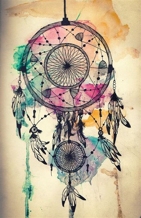watercolor dreamcatcher tattoos idea inspiration dreamcatcher