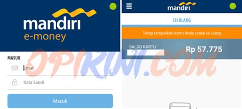 Mandiri E Money E Toll Card Saldo 30 000 E Money E Toll Emoney cara cek dan update saldo e toll indomaret card lewat hp opikini