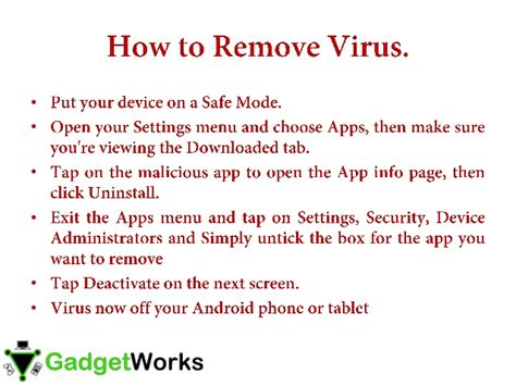 how to remove virus from android how to remove virus from an android smartphone my gadget works