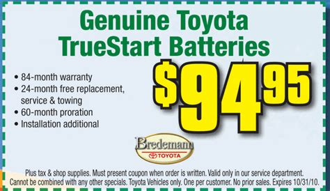 Toyota Battery Coupon Car Battery Coupons Release Date Price And Specs
