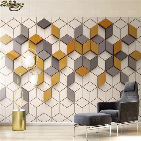 beibehang custom yellow mosaic mural living room office