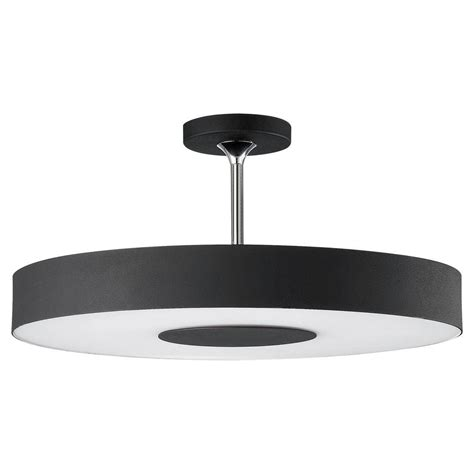 Black Ceiling Light Fixtures Philips Discus 1 Light Black Ceiling Fixture 302063048 The Home Depot