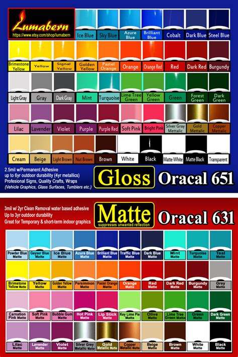 Sticker Oracal 651 Gloss Matte 10 sheets 12 quot x24 quot gloss or matte adhesive backed vinyl