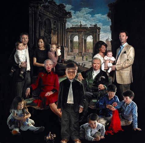 the royal family danish royal family portrait looks like a horror movie poster