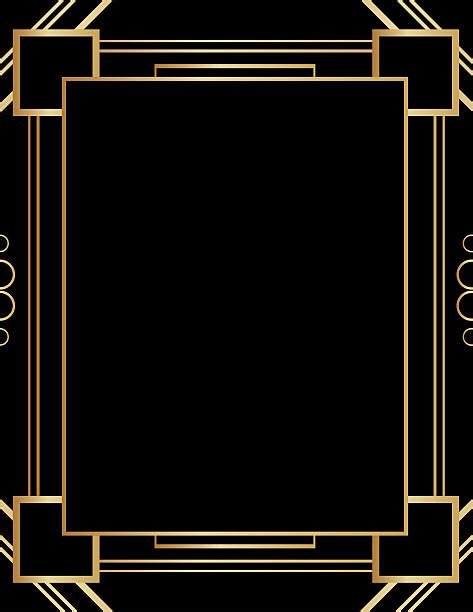 gatsby border template royalty free gatsby frame clip vector images