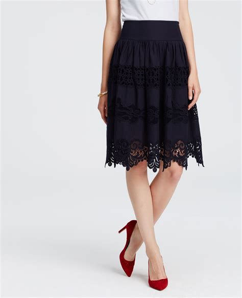Embroidered Midi Skirt lyst embroidered midi skirt in blue