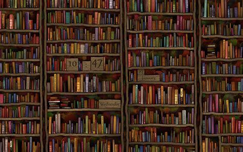 wall library library 183 bildschirmhintergrund uhren 183 vladstudio