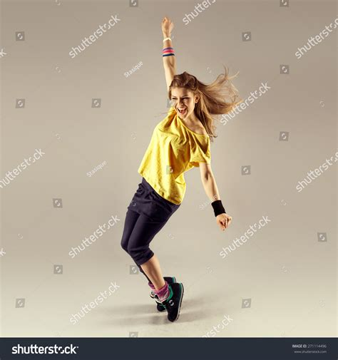 download video tutorial zumba funk dance workout portrait young sporty stock photo