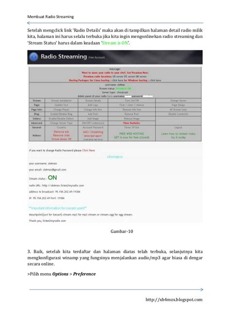 membuat website radio streaming membuat radio streaming