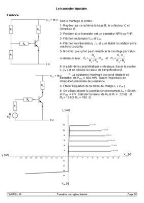 transistor npn exercices corrig 227 s pdf 28 images exercice transistor corrig 233 pdf suivre