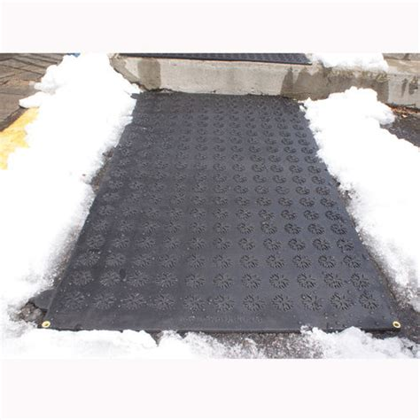 Heated Driveway Mat by Hotflake Outdoor Heated Walkway Driveway Mat At Brookstone Buy Now