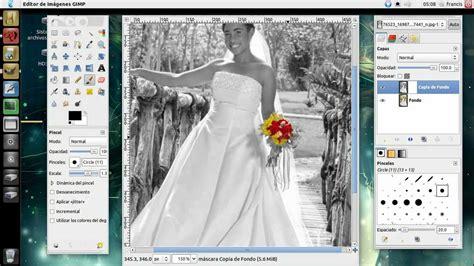 hacer imagen blanco y negro en gimp blanco y negro y objeto a color con gimp youtube