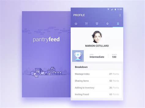 app design jobs london pantryfeed profile splash by reznik umar dribbble