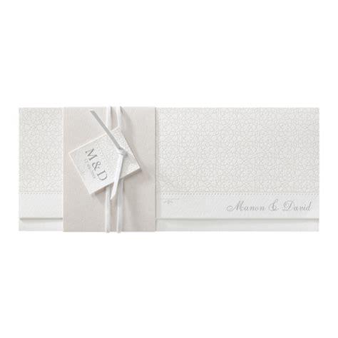 Hochzeitseinladung Querformat by Einladungskarte L 228 Nglich Mit Perlmutt Banderole Und