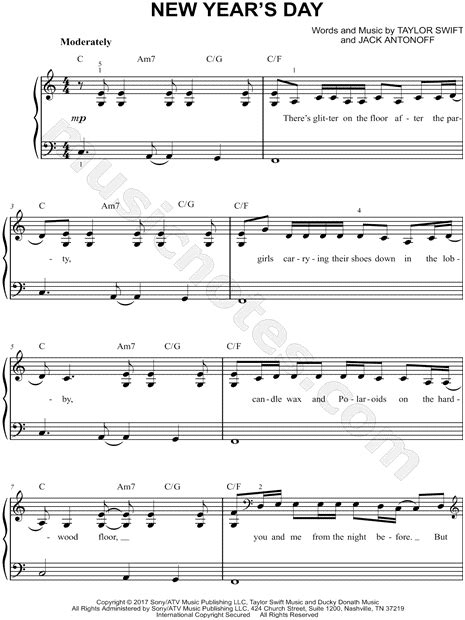new year easy piano sheet quot new year s day quot sheet easy piano in